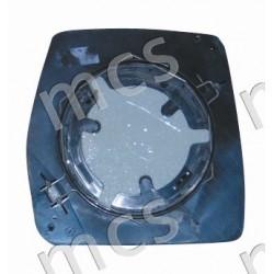 Piastra con specchio curvo versione manuale SX