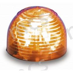 Calotta per girevole in gomma arancio in policarbonato
