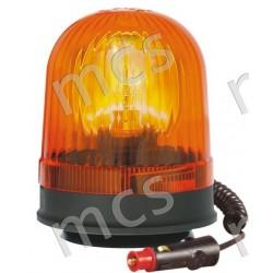 Girevole arancio 12V/24V, base magnetica a ventosa diam. 142 mm