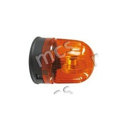 Girevole arancio 12V/24V, base piana diam. 142 mm