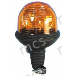 Girevole arancio in gomma 12V/24V, base asta diam. 142 mm