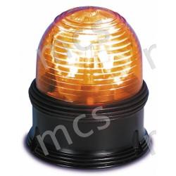 Girevole arancio in gomma 12V/24V, base piana diam. 142 mm