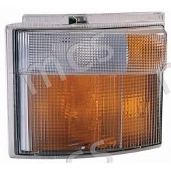 Gruppo ottico fanale anteriore bianco-arancio SX