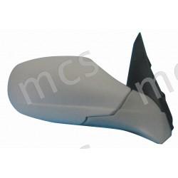 Retrovisore elettrico da verniciare ripiegabile elettricamente specchio curvo azzurrato termico DX
