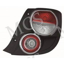 Gruppo ottico fanale posteriore bordo cromato DX