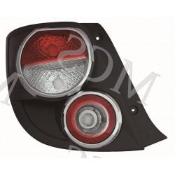 Gruppo ottico fanale posteriore bordo cromato SX