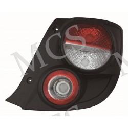 Gruppo ottico fanale posteriore bordo nero DX