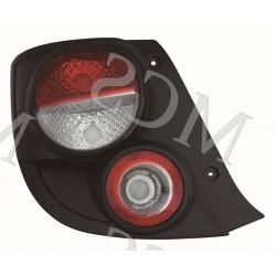 Gruppo ottico fanale posteriore bordo nero SX