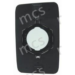 Piastra con specchio curvo termico 260x158 SX/DX