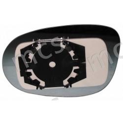 Piastra con specchio curvo azzurrato DX