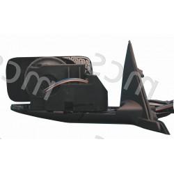 Corpo retrovisore elettrico nero senza calotta specchio curvo azzurrato termico DX