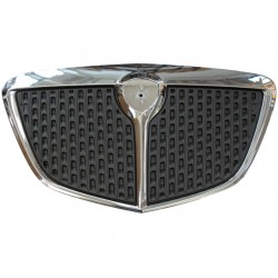 CHROMED FRONT FRAME GRILL+ DARK METALLIC GREY PAINTED INNER GRILL (VERSION 2007 - GOLD) (MUSA 2004--2007)
