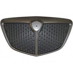 DARK GREY PAINTED FRONT FRAME GRILL + BLACK INNER GRILL (VERSION 2007 - Type MOMO) (MUSA 2004--2007)