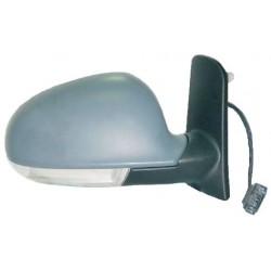 Retrovisore con luce di direzione elettrico da verniciare specchio curvo termico DX