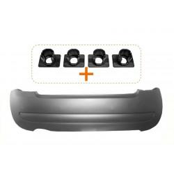 """PARAURTI POSTERIORE CON PRIMER(QP) COMPLETO DI COPRIGANCIO E KIT SUPPORTI SENSORE """"TUV""""(impronta interna fori sensore parcheggio"""